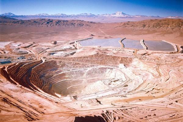 Escondida copper mine, in Chile